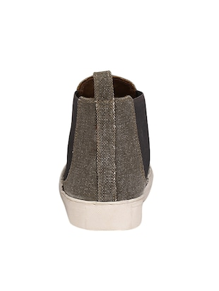 grey Canvas slip on sneaker - 14418074 - Standard Image - 3