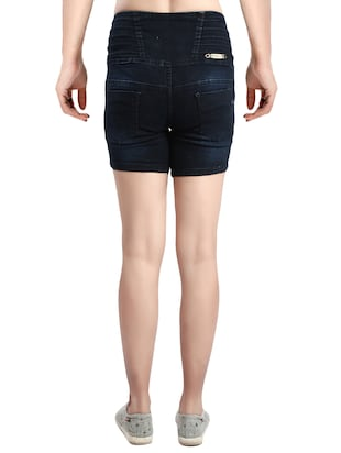 blue denim shorts - 14419351 - Standard Image - 3