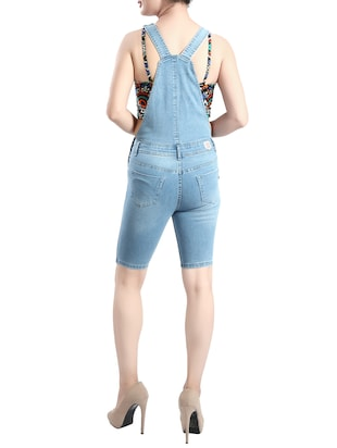 light blue denim dungree - 14419467 - Standard Image - 3