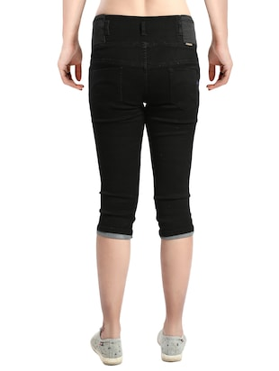 black denim capri - 14419592 - Standard Image - 3