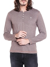 brown cotton t-shirt -  online shopping for T-Shirts