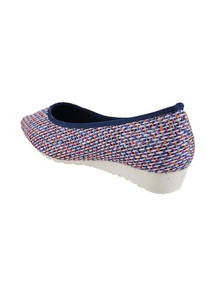 mutli colored  slip on ballerina - 14422390 - Standard Image - 3