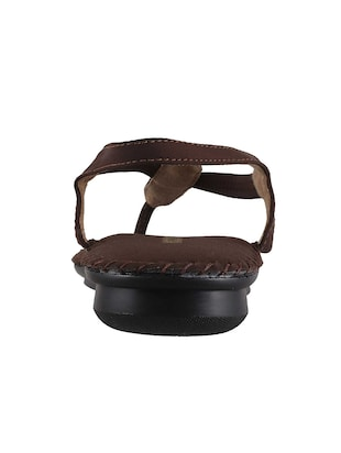 brown pu back strap sandals - 14422483 - Standard Image - 3