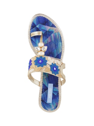 blue tpr one toe sandals - 14422764 - Standard Image - 3