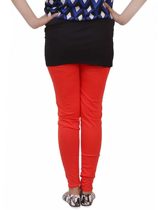 red woolen leggings - 14424587 - Standard Image - 3