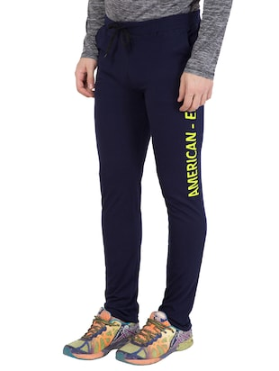 navy blue cotton track pant - 14424798 - Standard Image - 3