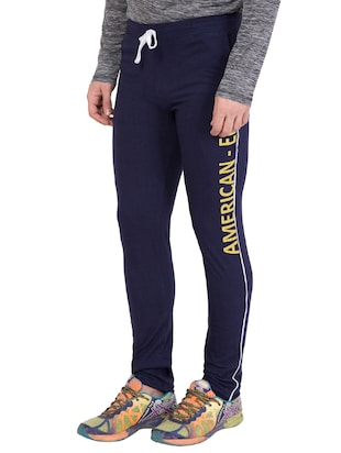 navy blue cotton track pant - 14424802 - Standard Image - 3