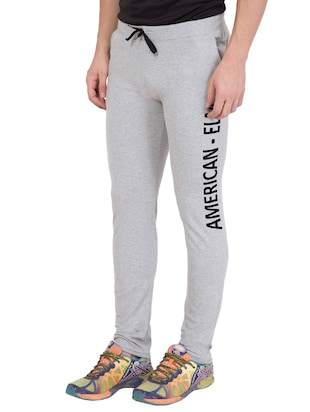 grey cotton track pant - 14424821 - Standard Image - 3