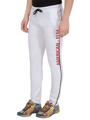 white cotton track pant - 14424848 - Standard Image - 3