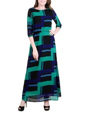 multi colored georgette dress -  online shopping for Dresses