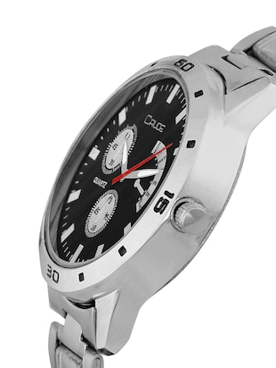 Crude combo of 2 Stainless Steel men's watch-rg741 with white & Black Dial - 14427054 - Standard Image - 6
