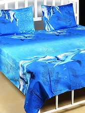 Polycotton Double Bed Sheet With 2 Pillow Covers -  online shopping for bed sheet sets