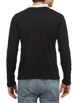 black cotton solid t-shirt - 14427673 - Standard Image - 3