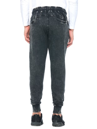 black cotton  full length track pant - 14430847 - Standard Image - 3