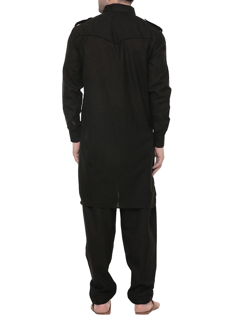 2c173d9755 ... black cotton pathani set - 14431438 - Zoom Image - 3