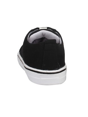 black fabric laceup sneakers - 14432178 - Standard Image - 3