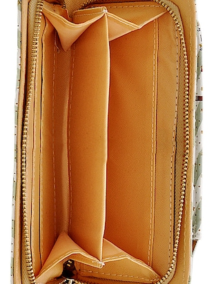green leatherette clutch - 14432453 - Standard Image - 3