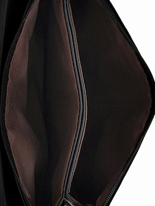 black leatherette sling bag - 14432479 - Standard Image - 3