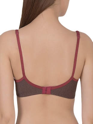 brown cotton tshirt bra - 14432806 - Standard Image - 3