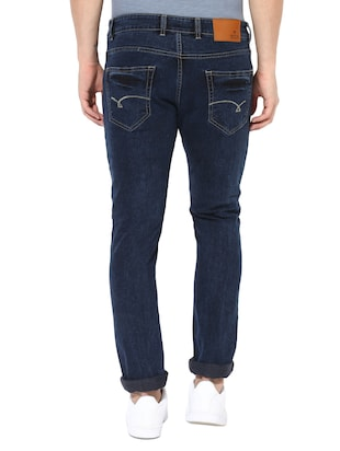 blue cotton blend biker jeans - 14433209 - Standard Image - 3