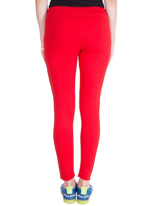 red cotton track pants - 14436787 - Standard Image - 3