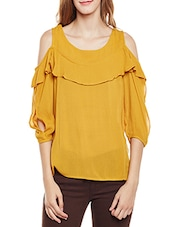 yellow regular top -  online shopping for Tops