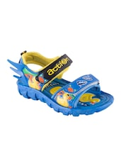 blue leatherette floater -  online shopping for sandals & floaters