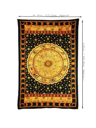 Cotton Traditional Printed Single Bed Sheet/Tapestry - 14452126 - Standard Image - 3