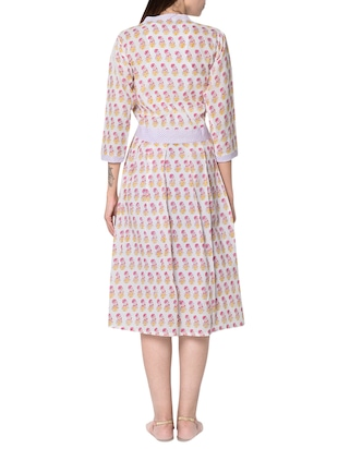 white cotton a line dress - 14455790 - Standard Image - 3