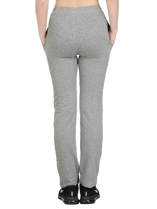 Grey cotton track pant - 14462291 - Standard Image - 3
