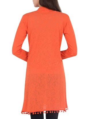 orange wool shrug - 14462682 - Standard Image - 3