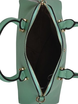 green leatherette regular handbag - 14464072 - Standard Image - 3