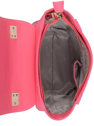 pink leatherette  regular sling bag - 14464099 - Standard Image - 3