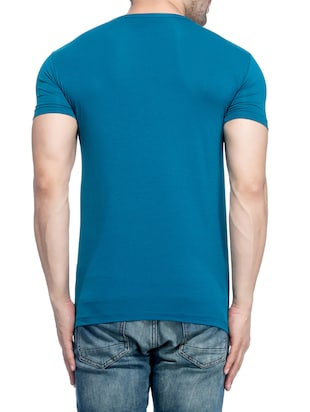 blue cotton  t-shirt - 14468032 - Standard Image - 3