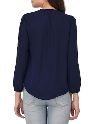 navy blue cotton top - 14468248 - Standard Image - 3