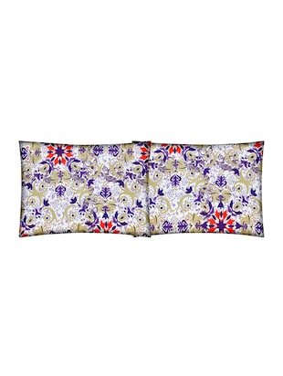 Floral Print Cotton Double Bedsheet with 2 Pillow Covers - 14469078 - Standard Image - 3