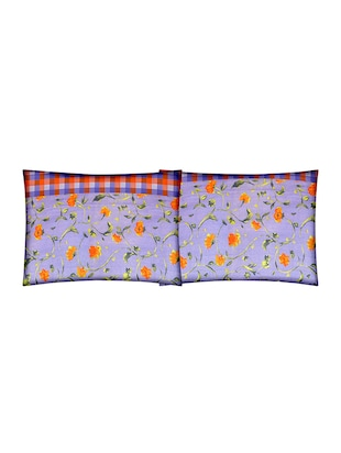 Floral Print Cotton Double Bedsheet with 2 Pillow Covers - 14469091 - Standard Image - 3