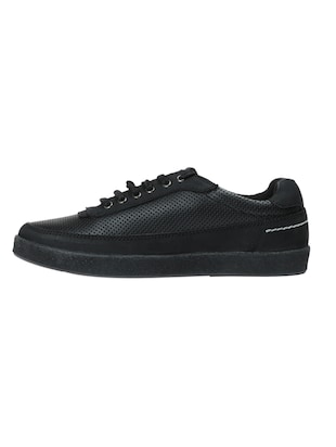 black leather lace up sneakers - 14469549 - Standard Image - 3