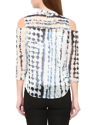 White tie and dye top - 14469614 - Standard Image - 3