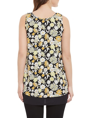 Black floral sleeveless top - 14471364 - Standard Image - 3