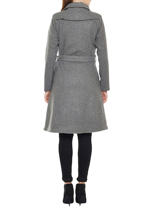 Grey woolen trench coat - 14475061 - Standard Image - 3