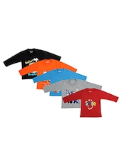 Kuchipoo set of 5 cotton t-shirt -  online shopping for t-shirts