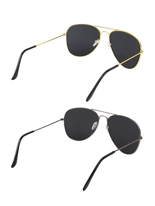 Abner Combo of Two aviator Sunglasses - 14476255 - Standard Image - 3