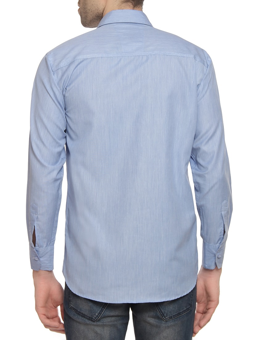 f840a53480e14 Buy Blue Cotton Blend Casual Shirt by Oshano - Online shopping for ...