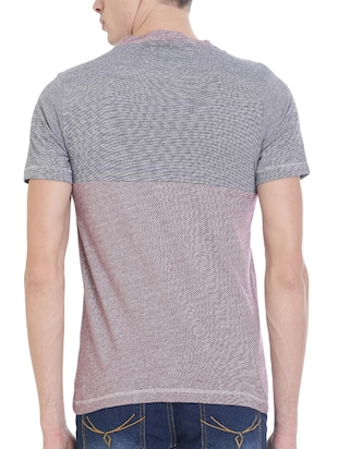 red cotton pocket t-shirt - 14476723 - Standard Image - 3