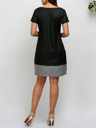 short sleeved a-line dress - 14478532 - Standard Image - 3
