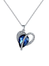 blue silver plated pendant -  online shopping for Pendants