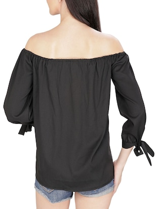 black off shoulder top - 14479526 - Standard Image - 3