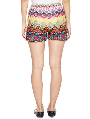 multi colored cotton shorts - 14482011 - Standard Image - 3