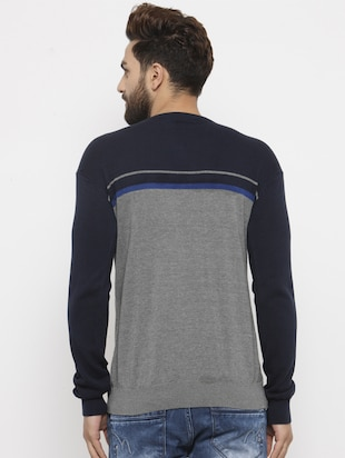 grey cotton pullover - 14484819 - Standard Image - 3